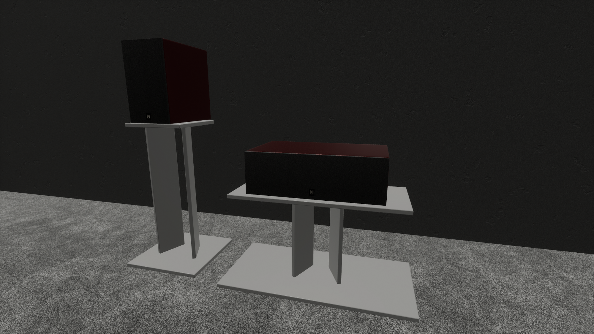 generic speaker and center channel stands